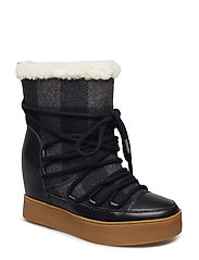 TRISH CHECK WOOL - BLACK