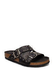 CARA CROSS STUDS - BLACK