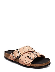 CARA CROSS STUDS - TAN