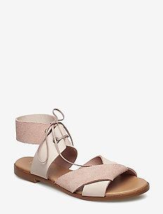 MONA L - płaskie sandały - pale blush