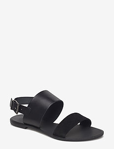 FLORA L - flat sandals - black