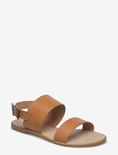 FLORA L - platta sandaler - tan