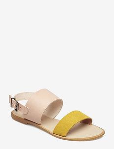 FLORA L - płaskie sandały - yellow