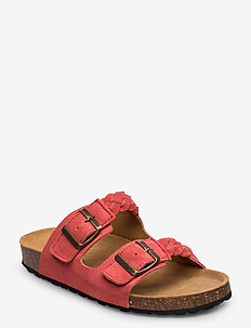 CARA S - płaskie sandały - coral red