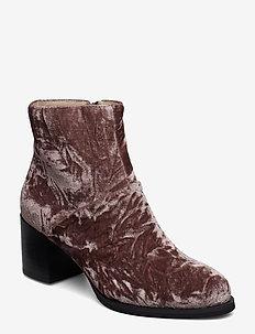CECI V - ankelstøvler med hæl - deep blush