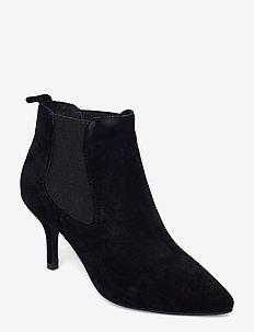 AGNETE CHELSEA S - ankelstøvler med hæl - black