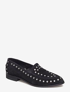 JUNO STUDS - loafers - black