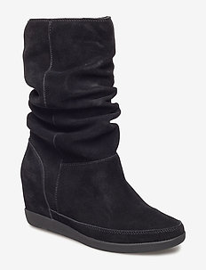 EMMY SLOUCHY BOOT - BLACK / BLACK