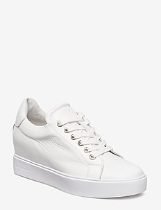 AVA GRAIN - låga sneakers - white