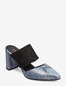 SELMA SNAKE - heeled sandals - blue