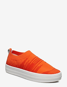 NEELA KNIT - slip-on sneakers - coral red