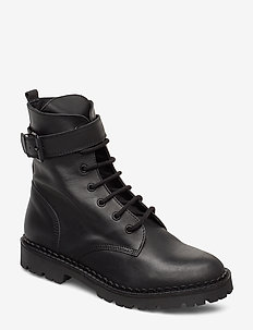 HAILEY LACE UP L - BLACK