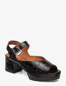 PENNIE SANDAL CROCO - BLACK CROCO