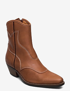 STB-ARIETTA L - ankelstøvler med hæl - brown