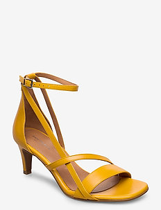 STB-ROSANA STRAP L - sandały na obcasie - yellow