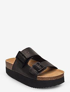STB-CARA PLATFORM L - flate sandaler - black