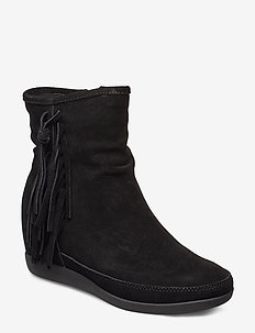 STB-EMMY FRINGES S - flade ankelstøvler - black / black