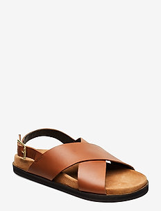STB-FAMARA CROSS L - flade sandaler - cognac