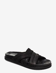 STB-FAMARA MULTI STRAP N - matalat sandaalit - black