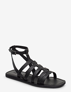 STB-TAO GLADIATOR - platta sandaler - black / black
