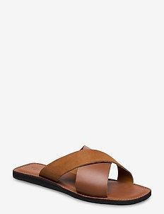 STB-TAO SLIDE - flate sandaler - tan