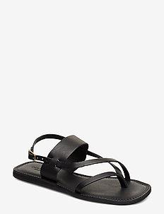 STB-TAO STRAP - platta sandaler - black