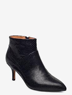 STB-VALENTINE ZIP REPTILE - ankelstøvler med hæl - black