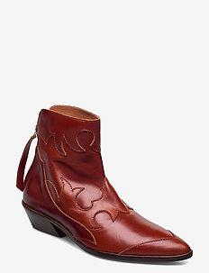 STB-MIQUITA L - ankelstøvler med hæl - tan