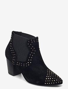 STB-TORO STUDS - ankelstøvler med hæl - black