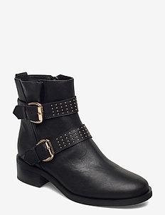 STB-AMY BUCKLES L - ankelstøvler med hæl - black