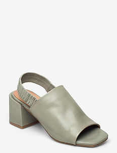 STB-ELODIE SLINGBACK L - højhælede sandaler - green