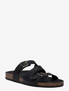 STB-CARA CRISS CROSS L - flat sandals - black
