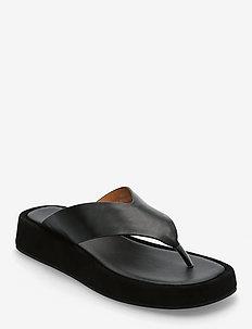 STB-ASTRID THONG L - platte sandalen - black / black