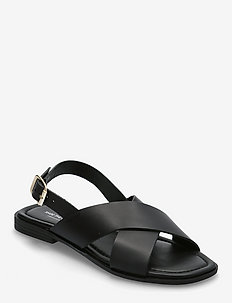 STB-BAY CROSS L - platte sandalen - black