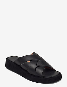 STB-ASTRID MULE L - flade sandaler - black / black