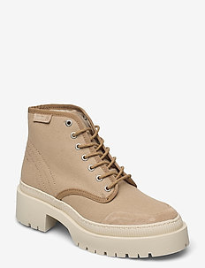 STB-BEA RECYCLED T - flache stiefeletten - sand
