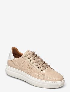 STB-VINCA LACE CROCO L - niedrige sneakers - sand