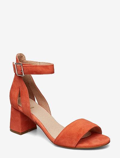 STB-MAY S - højhælede sandaler - coral red