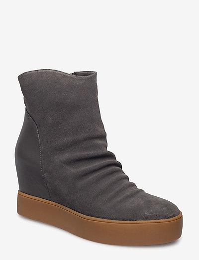 TRISH S - ankelstøvler med hæl - dark grey