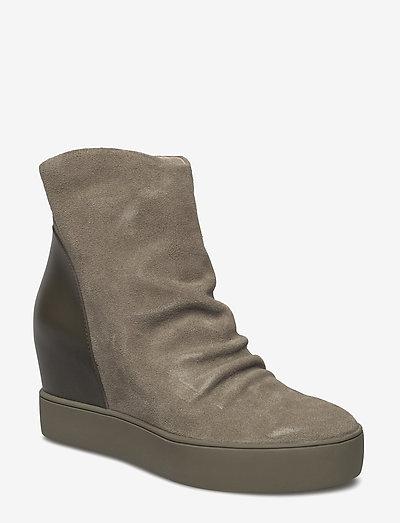 TRISH S - ankelstøvler med hæl - green / green