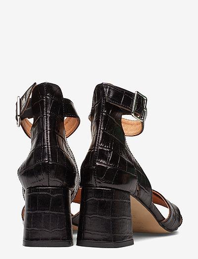 Shoe The Bear May Cross Croco- Absatzschuhe Black