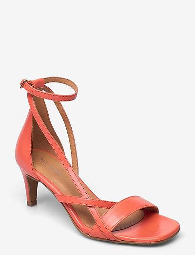 STB-ROSANA STRAP L - højhælede sandaler - coral red