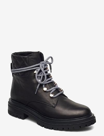STB-FRANKA LACE L - flade ankelstøvler - black