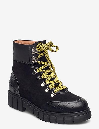 STB-REBEL HIKER CROC - flade ankelstøvler - black / yellow
