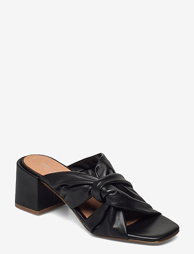 STB-ELODIE TWIST L - højhælede sandaler - black