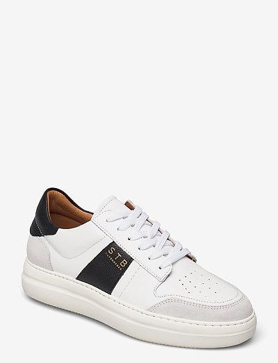 STB-VINCA L - lave sneakers - white / black