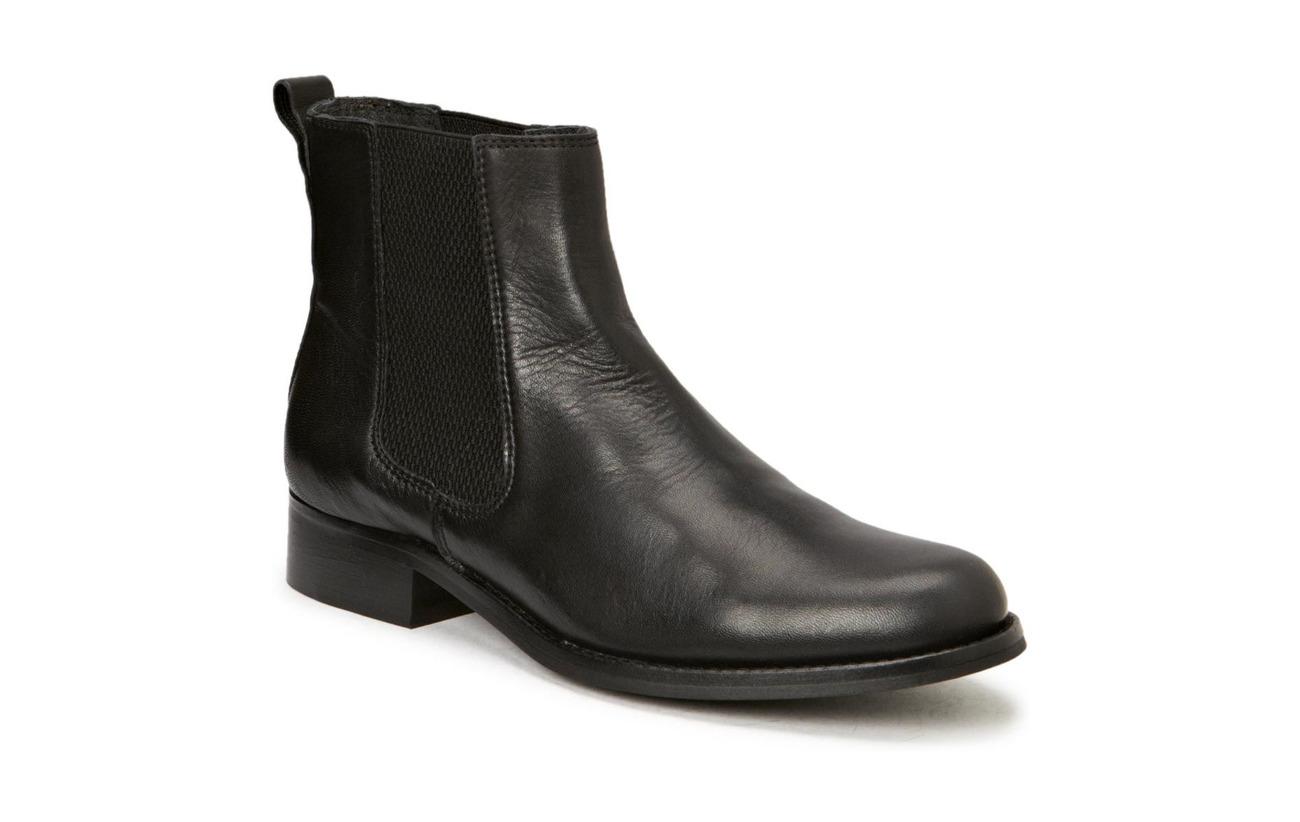 Shoe Biz Short Boot with elastic - VELVET BLACK