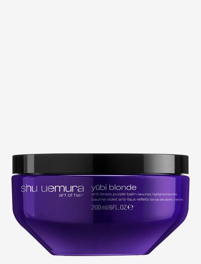Yubi Blonde Anti-Brass Purple Balm - silver shampoo - clear