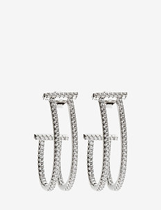 FUCINO LUNGO EARRINGS - statement - silver
