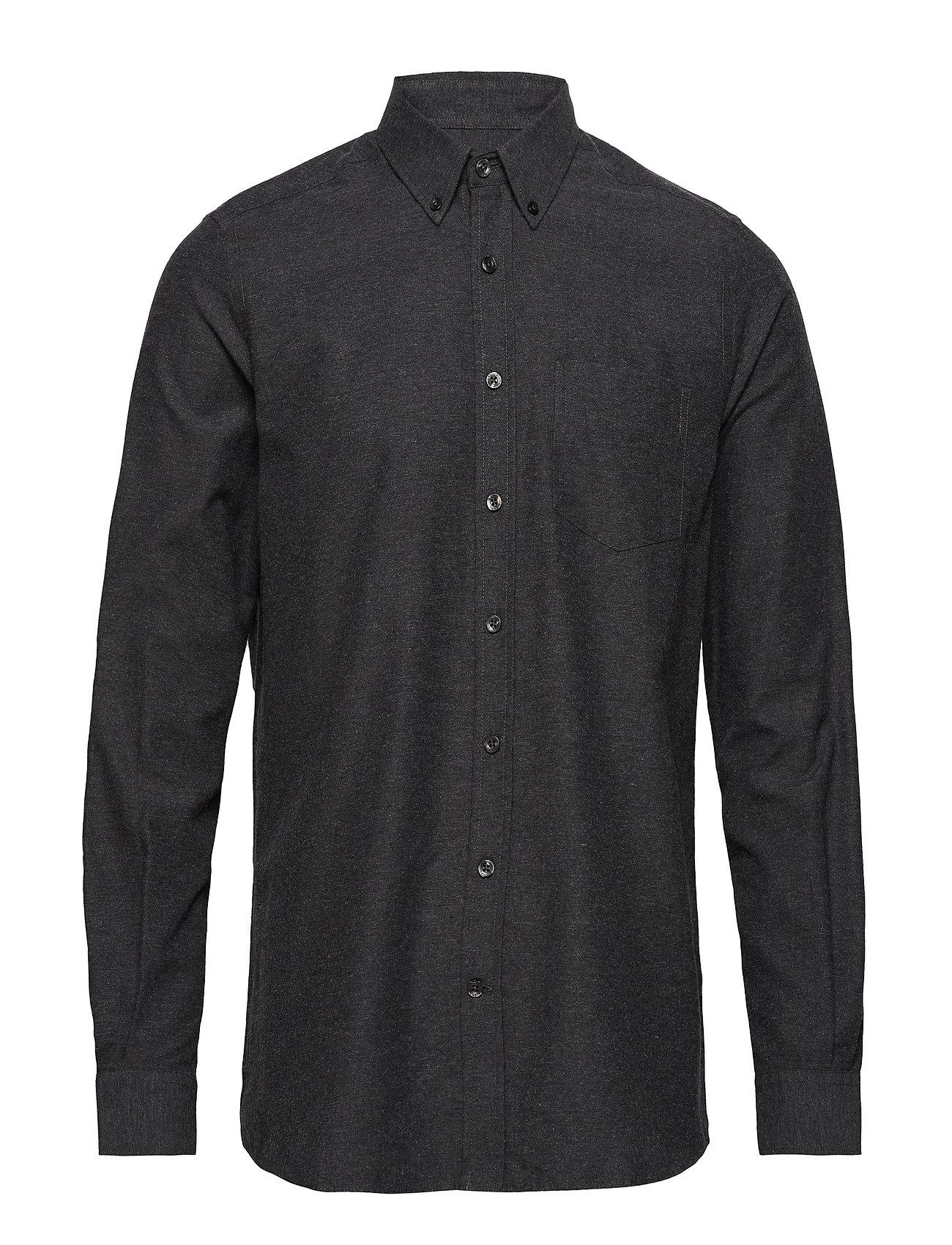 Signal L/S Shirts - DARK GREY MELANGE
